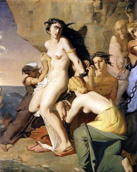 Andromeda Chained to the Rock by the Nereids 1840